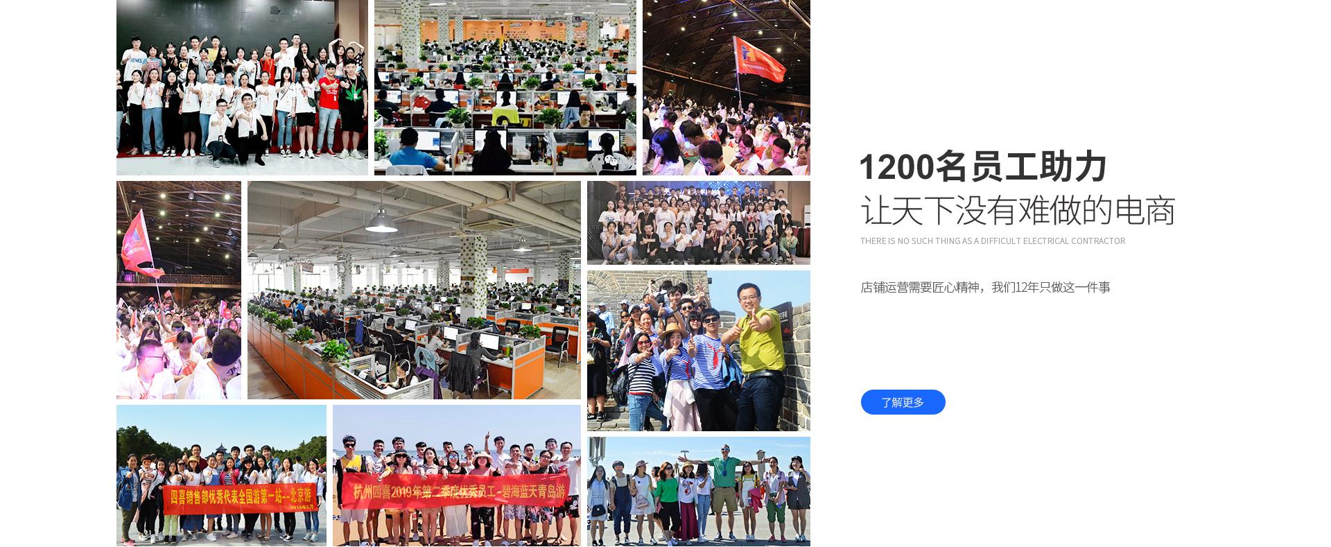 1200名员工助力
